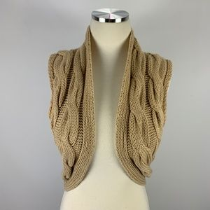 Old Navy Perfect Fit Medium Tan Sweater Shrug